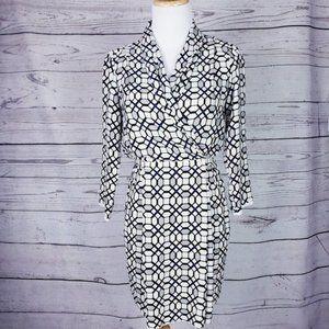Aritzia Wilfred Geometric Shirt Dress